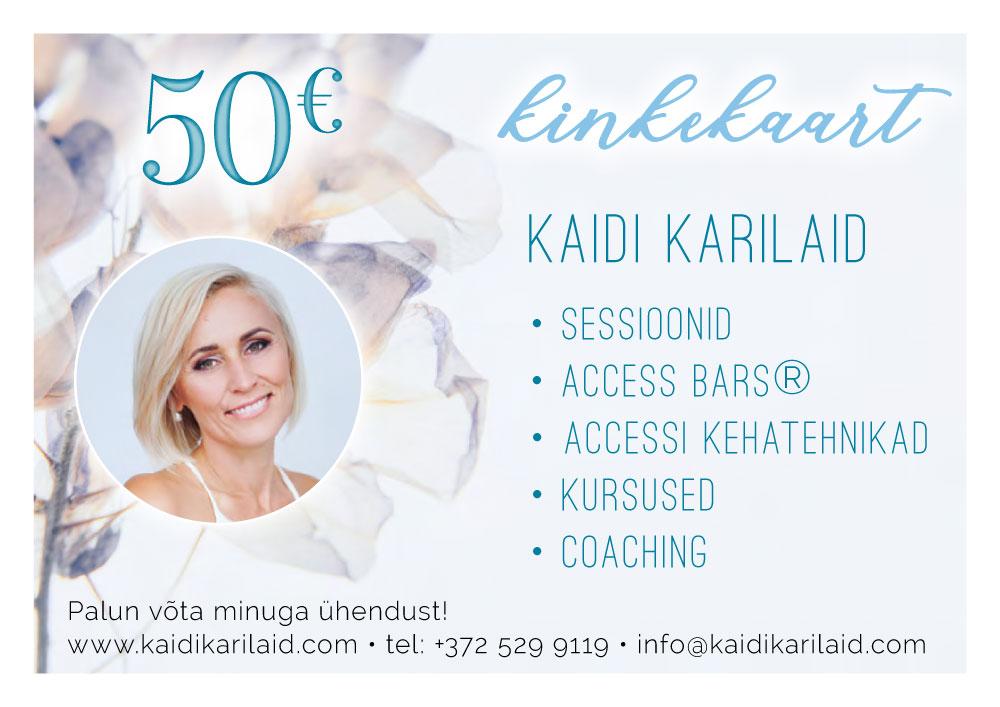 Kaidi Karilaid kinkekaart 50 eur